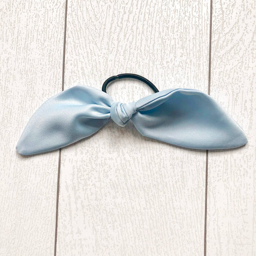 Glass Slipper Blue Hair Tie Bow