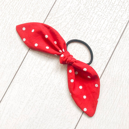 Rock The Dots Hair Tie Bow