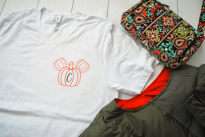 Mouse Pumpkin Monogram Tee