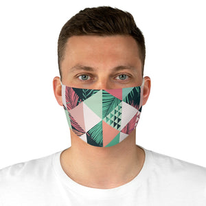 Fabric Face Mask Reusable Washable - Custom Designed - Geometric Palms