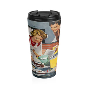 Stainless Steel Travel Mug - Retro Woman Series - Baking Crew