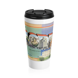 Stainless Steel Travel Mug - Retro Postcard Series - Colorado