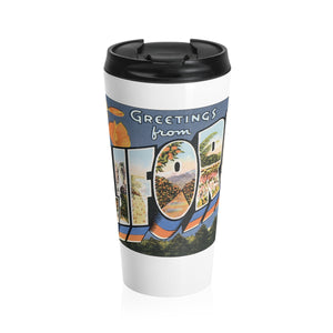 Stainless Steel Travel Mug - Retro Postcard Series - California