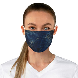 Fabric Face Mask Reusable Washable - Custom Designed - Stone Deep Blue Agate