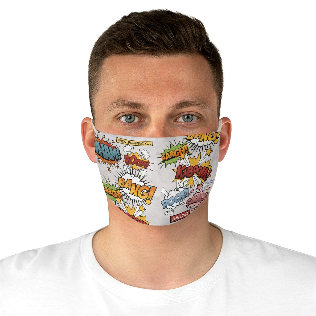 Fabric Face Mask Reusable Washable - Custom Designed - Comic Book Story