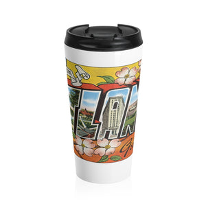 Stainless Steel Travel Mug - Retro Postcard Series - Atlanta GA