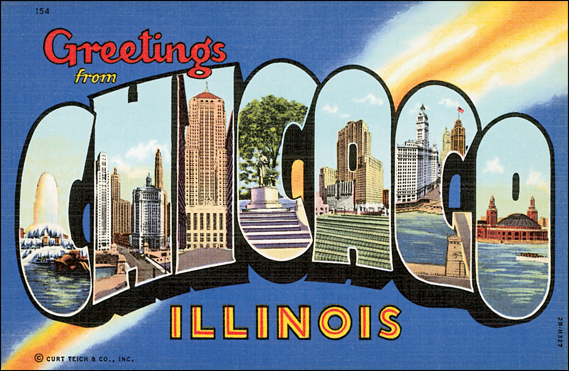 Stainless Steel Travel Mug - Retro Postcard Series - Chicago IL