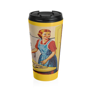 Stainless Steel Travel Mug - Retro Woman Series - Cooking