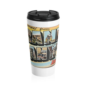 Stainless Steel Travel Mug - Retro Postcard Series - Grand Canyon