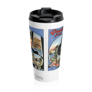 Stainless Steel Travel Mug - Retro Postcard Series - Catalina Island
