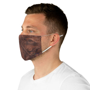 Fabric Face Mask Reusable Washable - Custom Designed - Wood Knurled