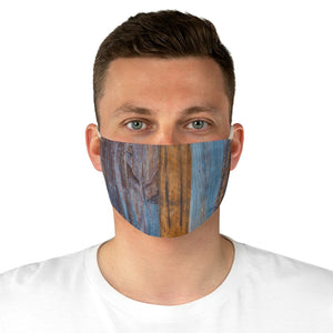 Fabric Face Mask Reusable Washable - Custom Designed - Wood Painted Pallet