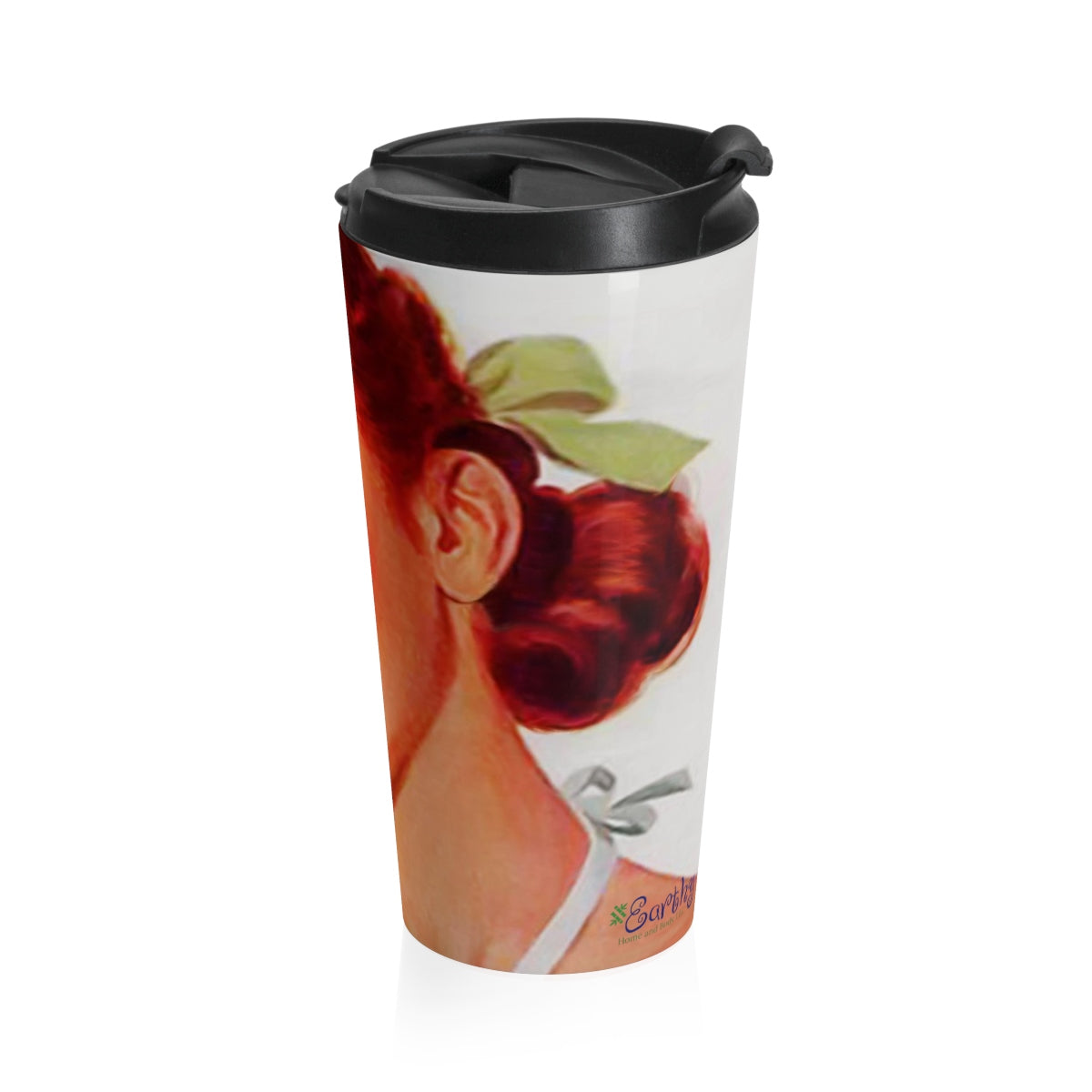 Stainless Steel Travel Mug - Retro Woman Series - Soda Girl