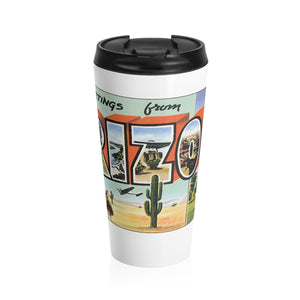 Stainless Steel Travel Mug - Retro Postcard Series - Arizona