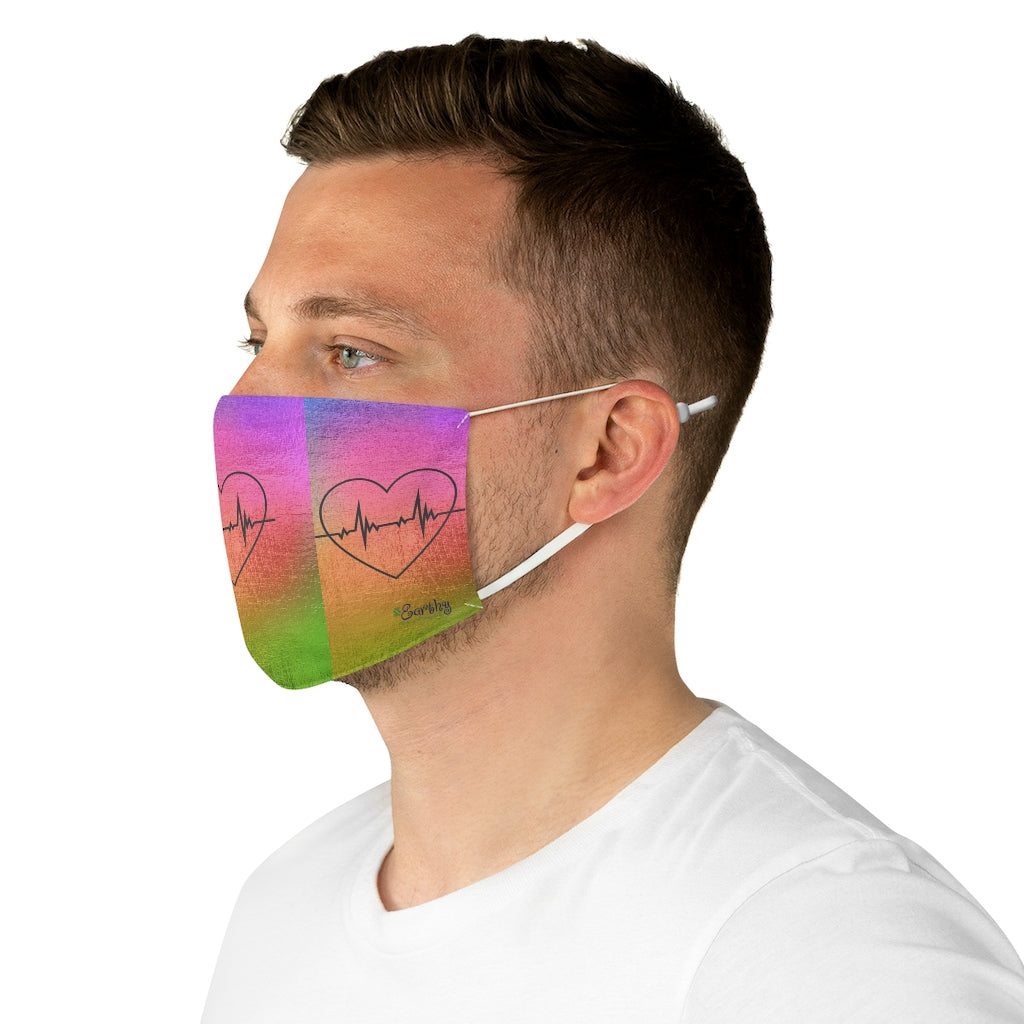 Fabric Face Mask Reusable Washable - Custom Designed - One Pulse