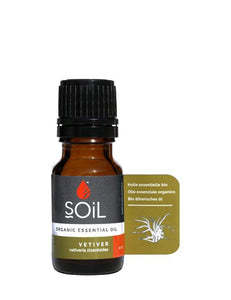 Organic Vetiver Essential Oil (Vetiveria Zizanoides) 10ml from SOiL Organics