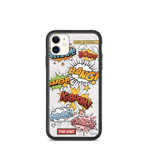 iPhone Biodegradable phone case - Comic Book Story