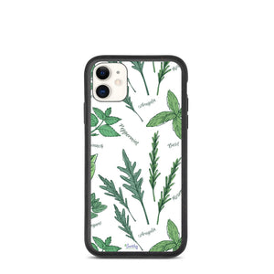 iPhone Biodegradable phone case - Botanical Herbs