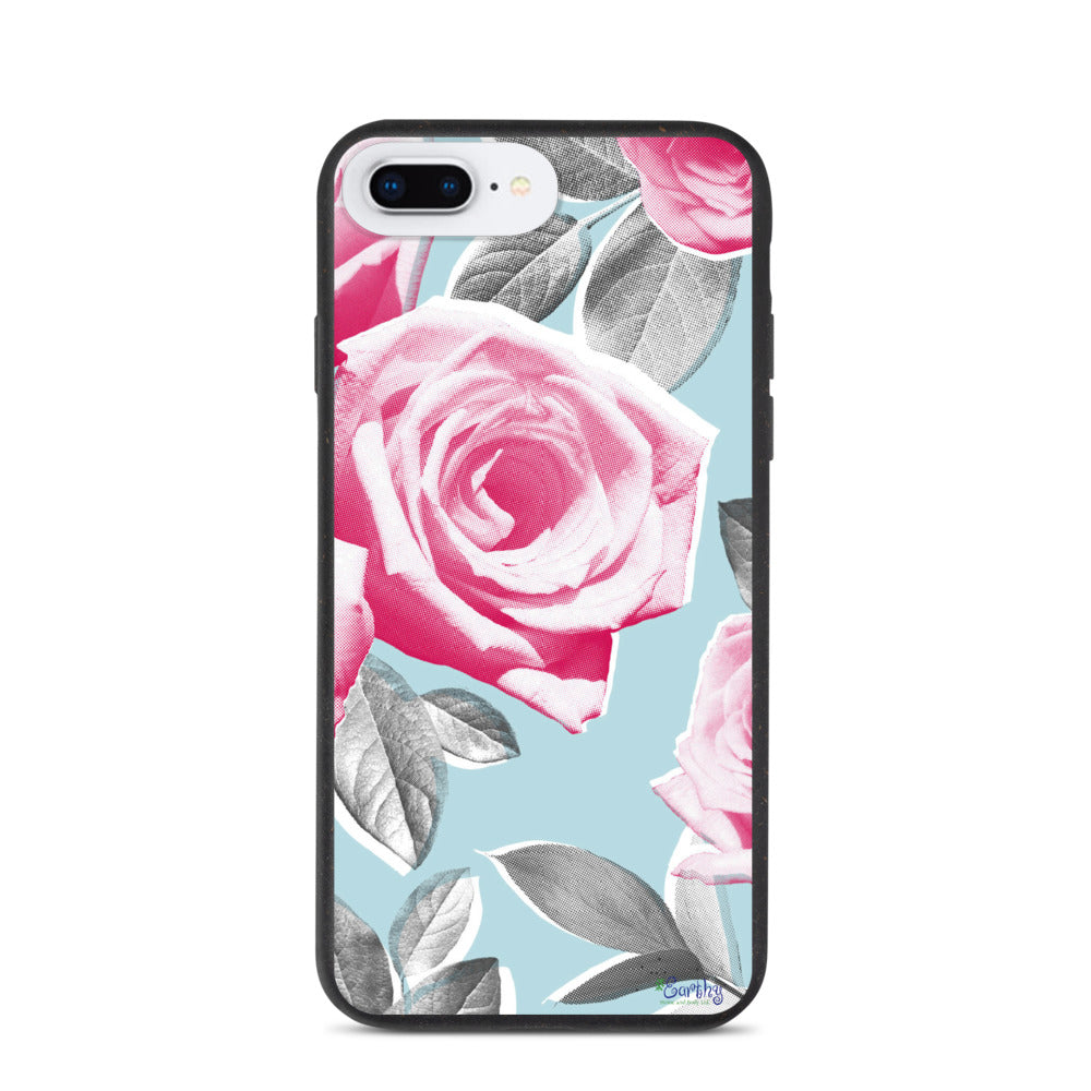 iPhone Biodegradable phone case - Botanical Pink Rose