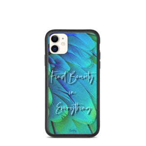 iPhone Biodegradable phone case - Feathered Beauty
