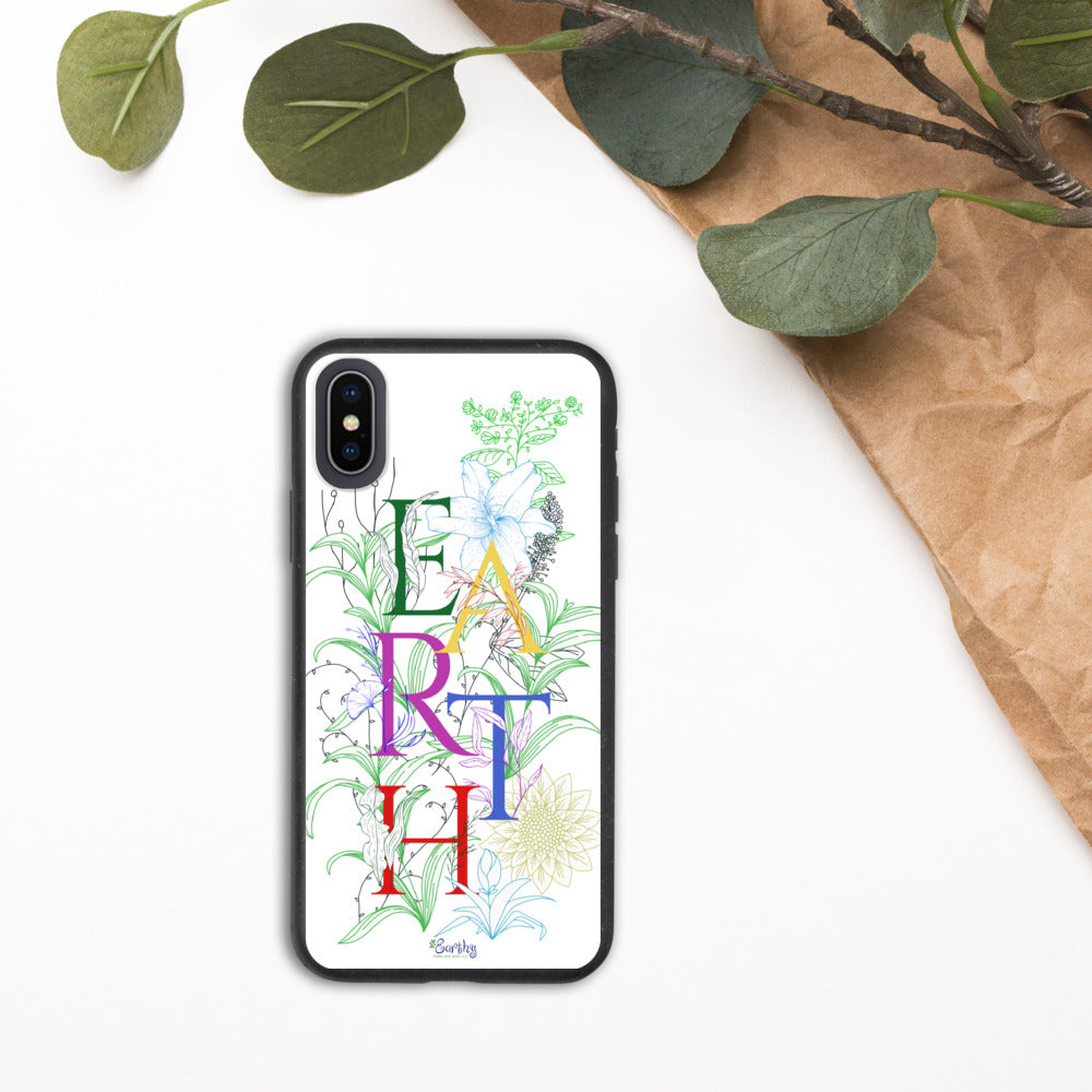 iPhone Biodegradable phone case - Earth Flowers