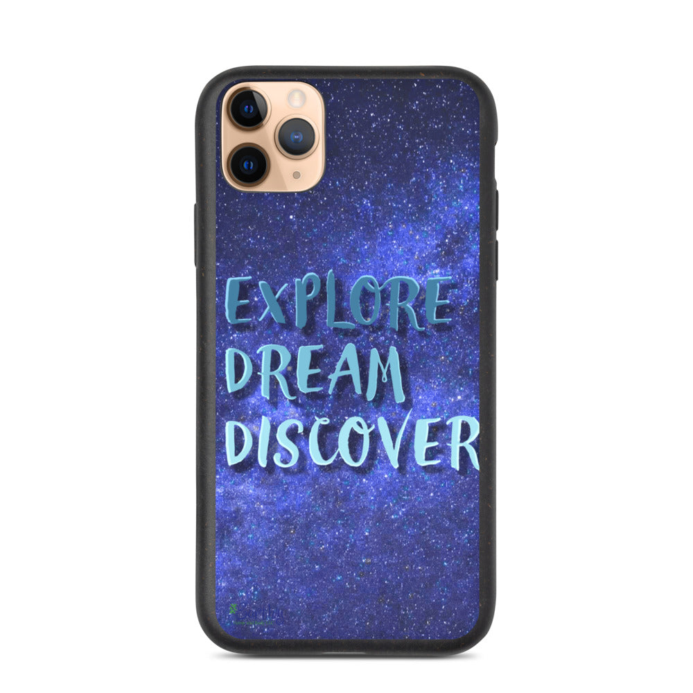 iPhone Biodegradable phone case - Explore, Dream, Discover