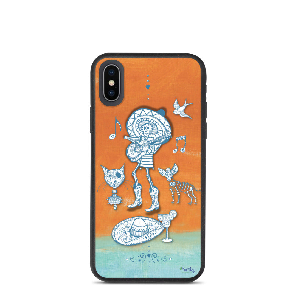 iPhone Biodegradable phone case - Day of the Dead Musician