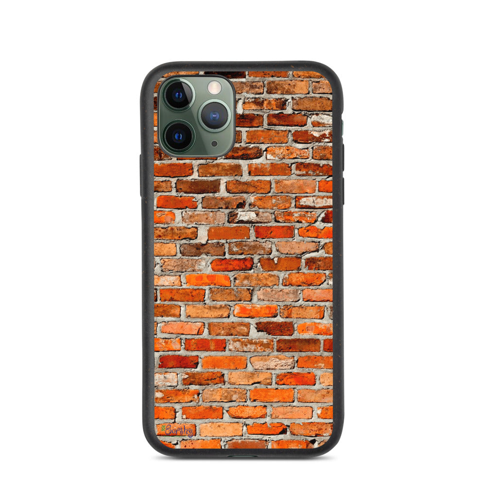 iPhone Biodegradable phone case - Red Brick Wall