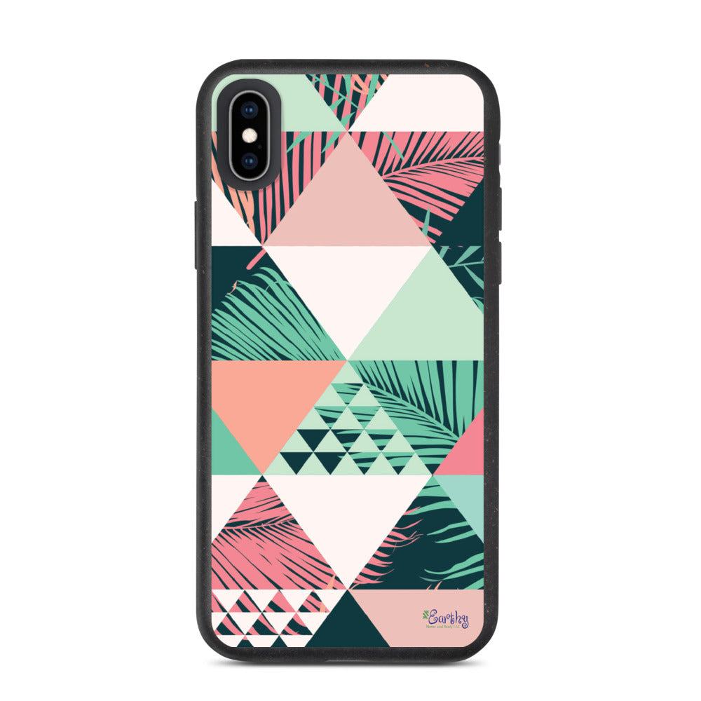 iPhone Biodegradable phone case - Geometric Palms