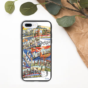 iPhone Biodegradable phone case - Vintage Postcards