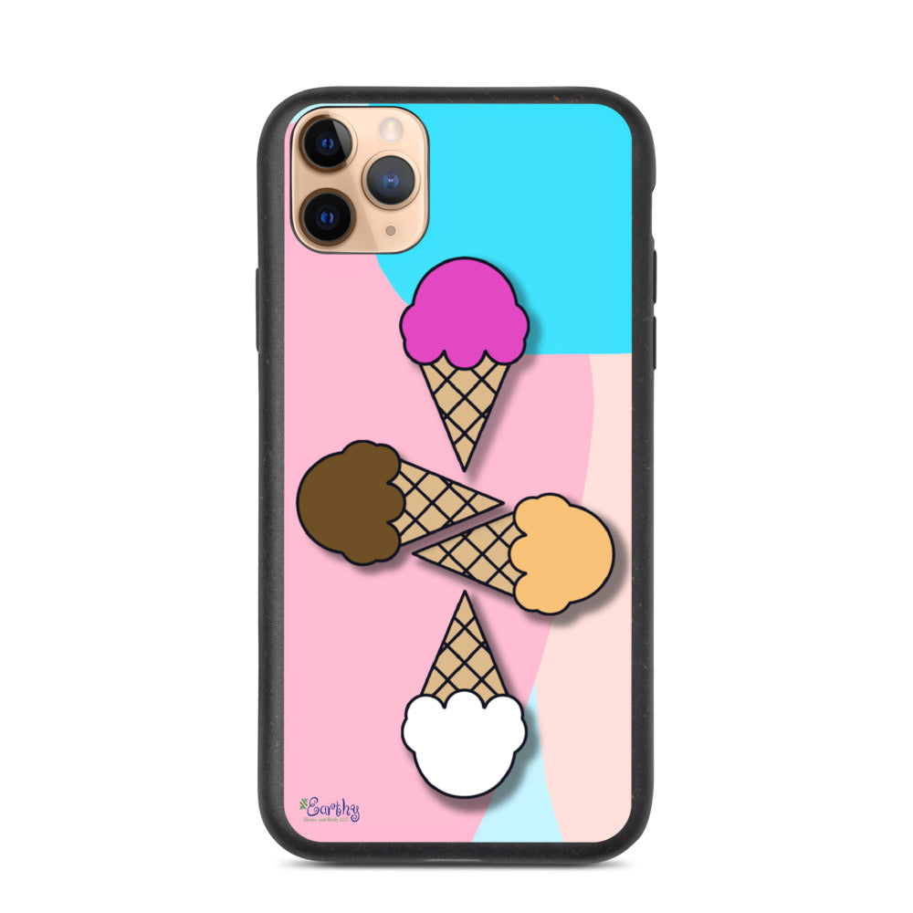iPhone Biodegradable phone case - Ice Cream Cluster
