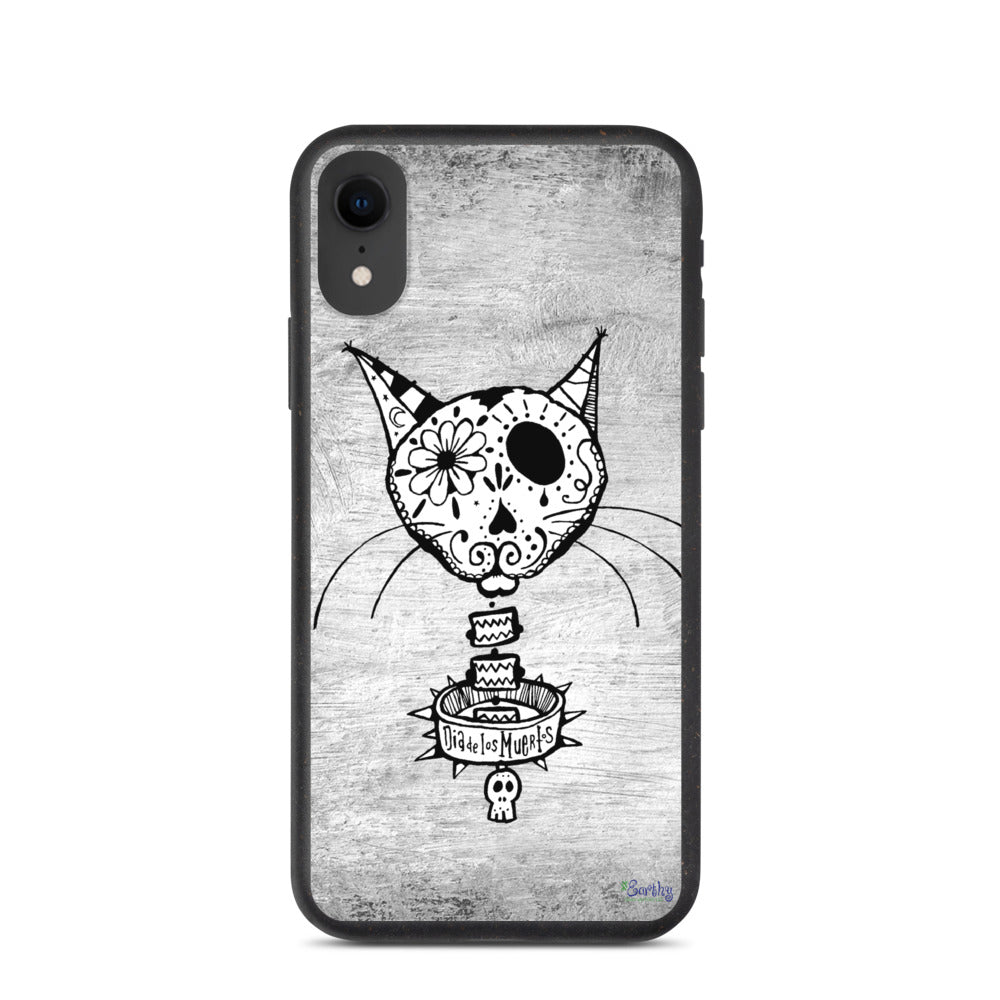 iPhone Biodegradable phone case - Day of the Dead Cat