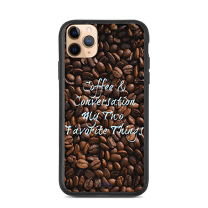 iPhone Biodegradable phone case - Coffee & Conversation