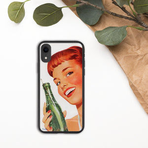 iPhone Biodegradable phone case - Vintage Soda Girl