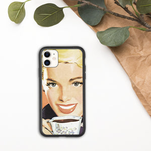 iPhone Biodegradable phone case - Vintage Coffee Talk