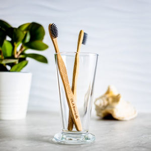 2-pack Charcoal Bamboo Adult Toothbrushes by OLA Bamboo