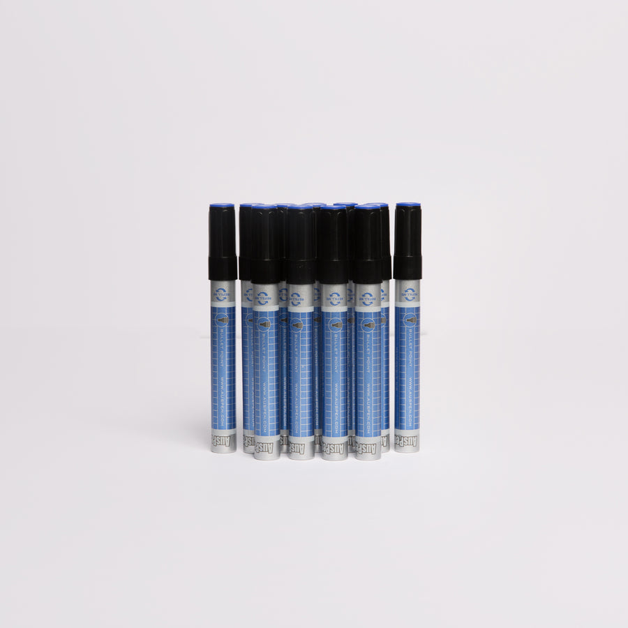 12 Blue Refillable Whiteboard Markers