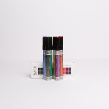 6 Assorted Refillable Whiteboard Markers