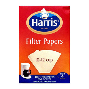 Harris Coffee Filter Papers 10-12 cup, Size 4