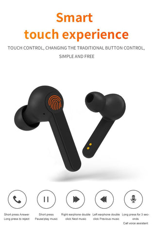 XY7 Bluetooth Wireless Earphones White