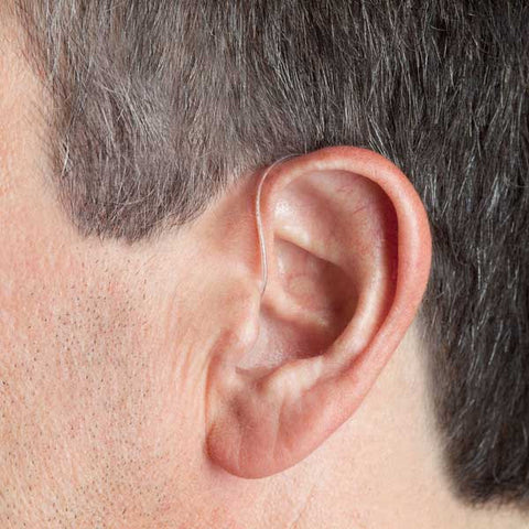Canto Bluetooth Hearing Aid in man's ear
