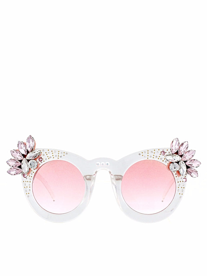 Gradient Pink Crystal Cluster Sunnies
