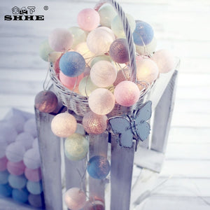 Cotton Ball String Lights (20 pieces)