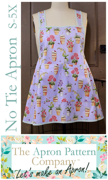 No Ties Apron #1 -Sizes Small-5X