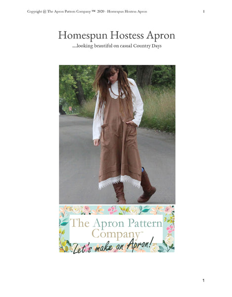 The Homespun Hostess Apron XS-5X