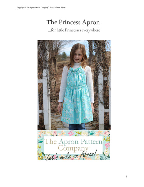 The Princess Apron Sizes 2-16
