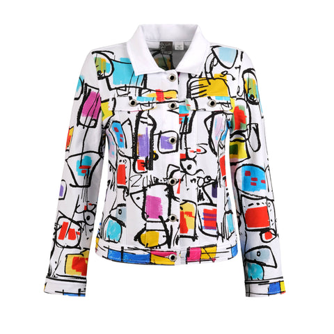 Knit Cardigan Inspired from French Painter Luc Villard