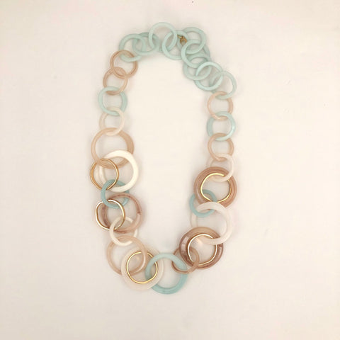 Light Blue Resin Necklace