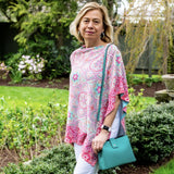 Mandala Geo Poncho and Italian Leather Seafoam Handbag or Pink Tote Bundle- 10% OFF