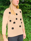 Passioni Women's Pullover with PomPom's